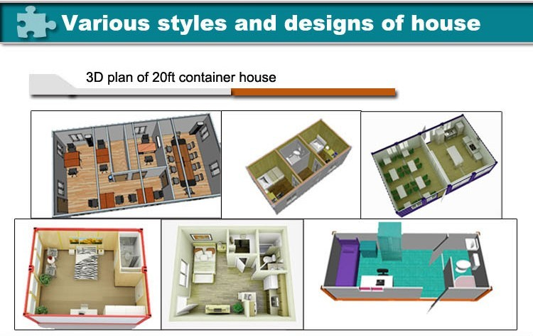 Modular Flat Pack Modified Container House With Ladders Two Storey Building With Windows
