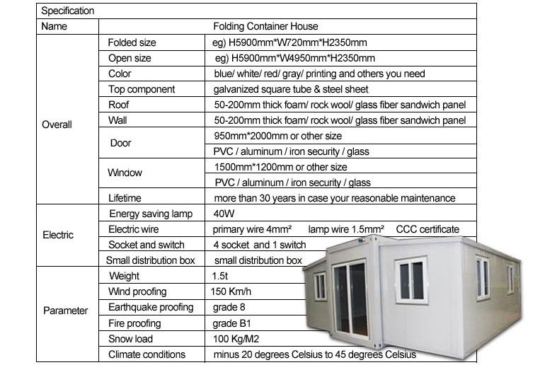 Expandable Container House wzh001