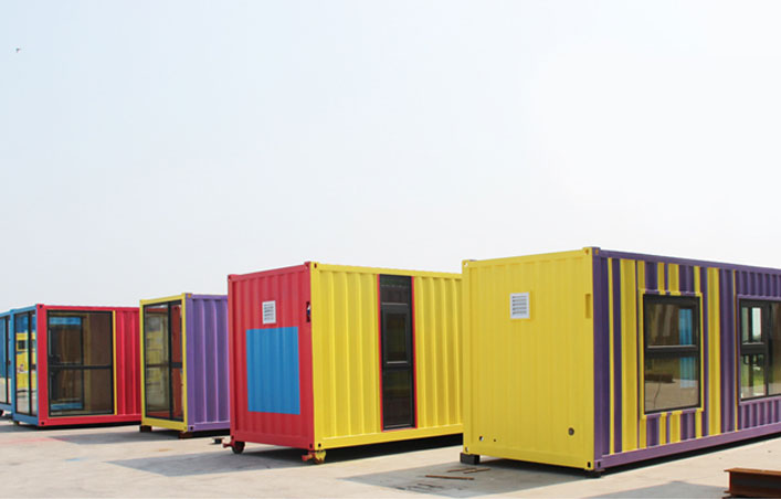 Container houses become the development form of new housing