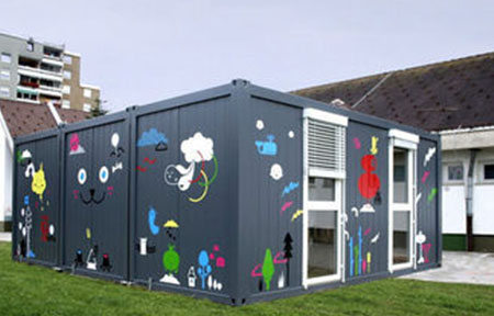 steel structure flat pack container house
