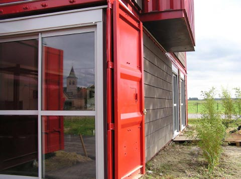 Shipping Container Home: Red House Lille