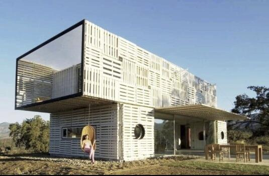 Shipping container storage for living