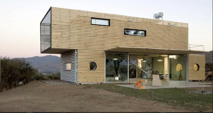 Shipping container storagefor living