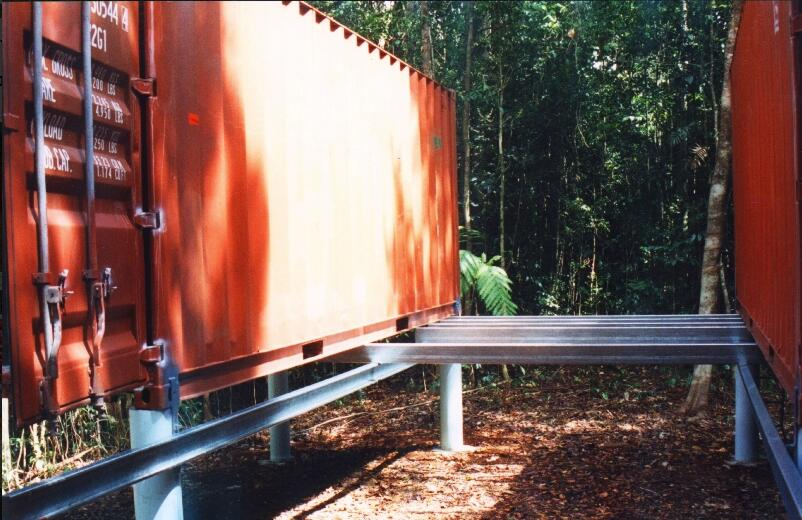 Shipping Container Shelter design for camping