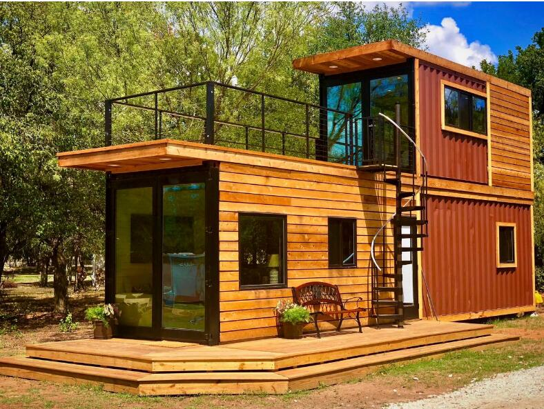 tiny container cabin the newest two-story container home-L