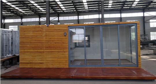 20FT Prefab Container with exterior wood finish-L