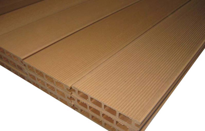 Wood plastic tile