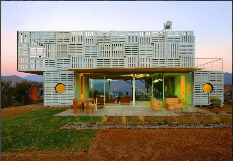 Shipping container storage for Modern Container Home