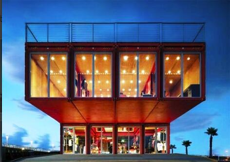 the 40-foot long shipping containers